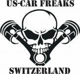 US-CAR FREAKS SWITZERLAND STICKER